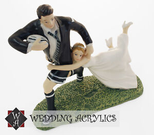 rugby wedding cake toppers uk rugby quot match quot wedding cake topper bnib ebay 19469