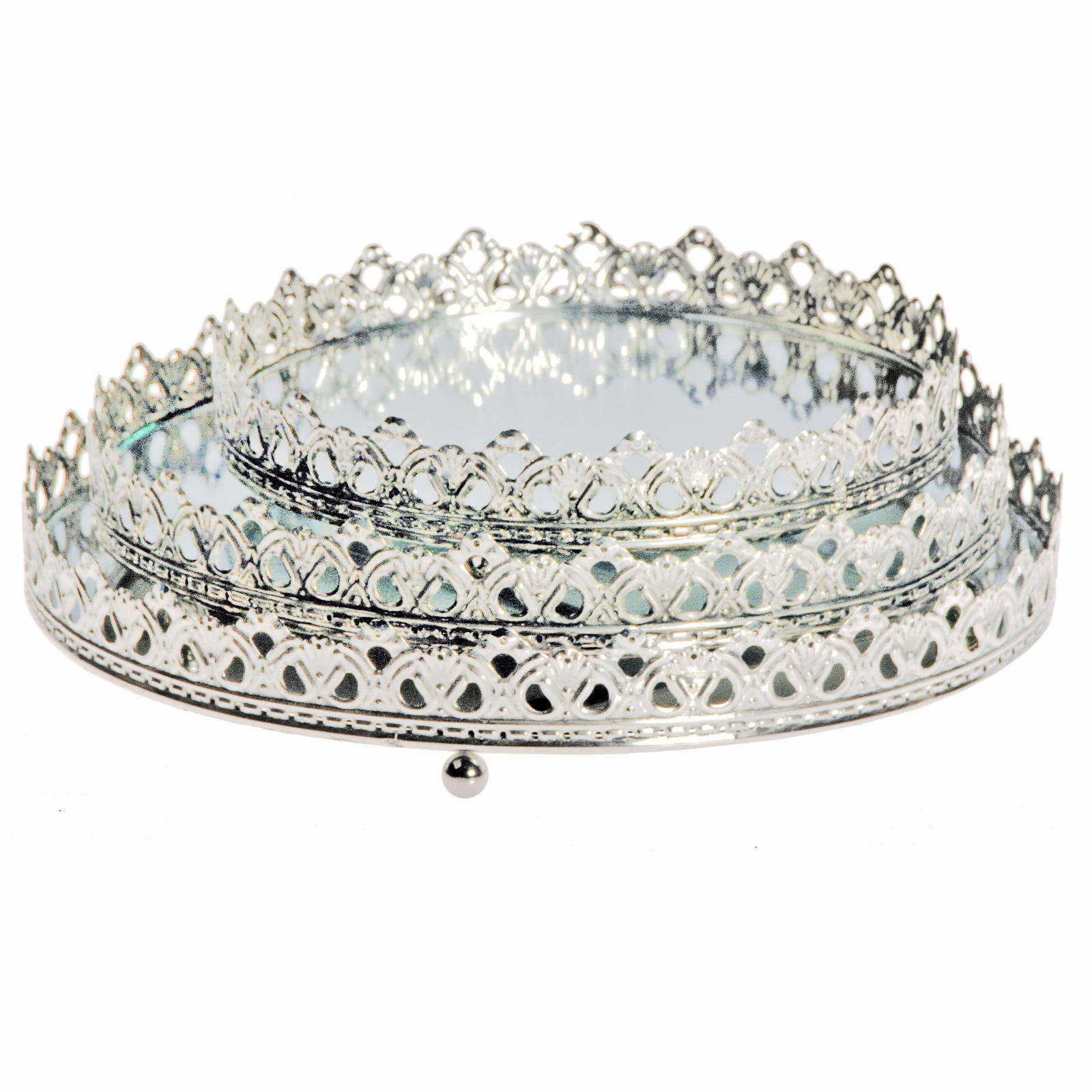Runde spiegel mit kronenrand wandspiegel tablett dekoration tischspiegel neu ebay - Dekoration spiegel ...