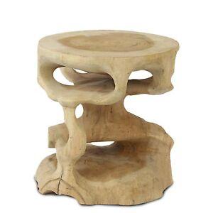 rundhocker teakholzhocker hocker blumenhocker holzhocker holz teakholz natur ebay. Black Bedroom Furniture Sets. Home Design Ideas