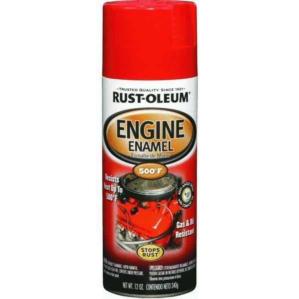 Rust Oleum High Temp Engine Spray Paint Ford Red