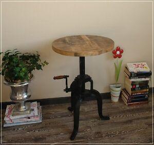 Rustikaler Tisch FLEXO Aus Metall Und Holz Used Look .