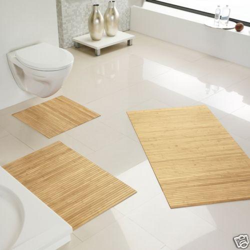 rutschfeste badematte aus bambus badteppich vorleger bad. Black Bedroom Furniture Sets. Home Design Ideas