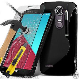S-Line-Gel-Wave-Handy-Tasche-Schutzhuelle-Hartglas-LCD-Bildschirmschutz