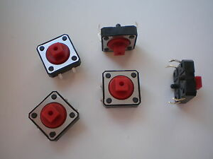 S01-100-Stk-Miniatur-Taster-Drucktaster-Eingabetaster-12x12x7-mm-12V