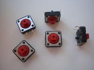 S03-25-Stk-Miniatur-Taster-Drucktaster-Eingabetaster-12x12x7-mm-12V