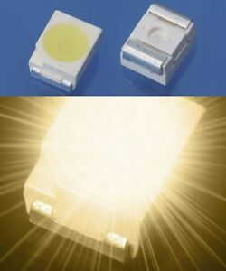 S165-50-Stueck-SMD-LED-PLCC-2-3528-warmweiss-Ultrahell-LEDs-1210-warm-white