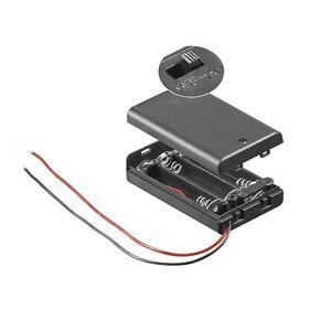 S694-2-Stueck-Batteriehalter-3x-Micro-AAA-Batteriefach-geschlossen-mit-Schalter