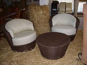 Salotto 2 poltrone sedie 1 tavolo da giardino esterno for Poltrone da terrazzo