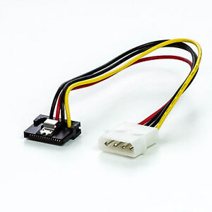 SATA-Strom-Kabel-Power-Adapter-gewinkelt-4-Pin-SATA-IDE-20cm-Sicherheitslasche