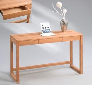 Schreibtisch konsole tv tisch holztisch schubfach for Kleiner schreibtisch buche