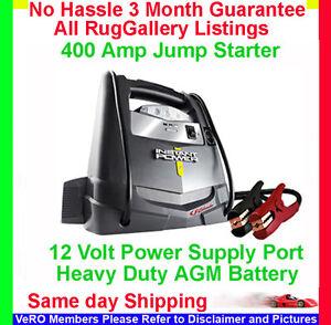 Batteries Volt on Car Battery Jump Starter Booster Internal Charger 12 Volt Xp400   Ebay