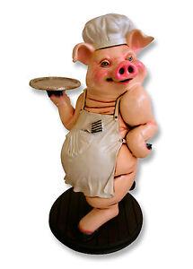 Schwein als koch mit tablett sch rze werbefigur gastro for Gastro deko