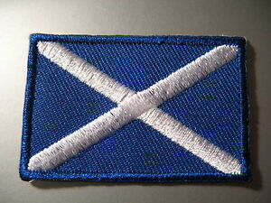 SCOTLAND-Scottish-Flag-Small-Iron-On-Patch-Saint-Andrews-Cross-3-x-4-5cm