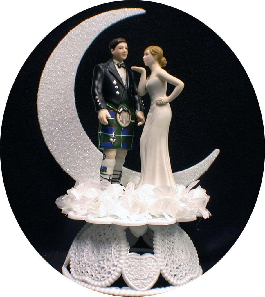 Pin Scottish Kilt Theme Wedding Cake Topper A Photo On Flickriver Cake