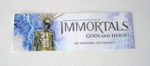 SDCC 2011 IMMORTALS Gods And Heroes PROMO Bookmark in Books, Accessories, Bookmarks | eBay