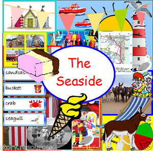 seaside topic teaching resource ks1 eyfs summer holidays weather teacher on cd ebay. Black Bedroom Furniture Sets. Home Design Ideas