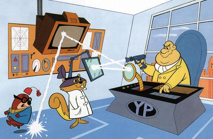 http://i.ebayimg.com/t/SECRET-SQUIRREL-MOROCCO-MOLE-PRINT-Hanna-Barbera-/00/$(KGrHqEOKjUE10M(RLo6BNh!QKisfw~~_3.JPG