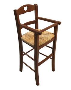 Sedia sgabello seggiolone legno massello bambino bimbo for Tavolo legno bimbi