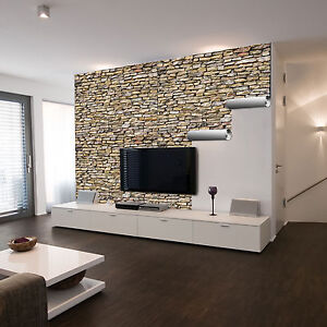 selbstklebende xxl fotofolie steinwand natur steine mauer wand neu ebay. Black Bedroom Furniture Sets. Home Design Ideas