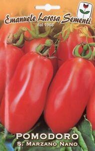 Semi sementi di pomodoro san marzano nano semi per for Piantare pomodori