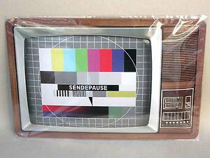 SENDEPAUSE-Fernsehen-Blechschild-20-x-30-NEU-OVP