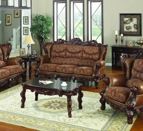 SENSATIONAL LEATHER, FABRIC & WOOD SOFA COUCH LIVING ROOM FURNITURE in Home & Garden, Furniture, Sofas, Loveseats & Chaises | eBay