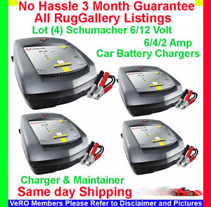 Battery Charging Amps on Set 4 Schumacher 6 Amp 6 12 V Automatic Car Truck Battery Charger