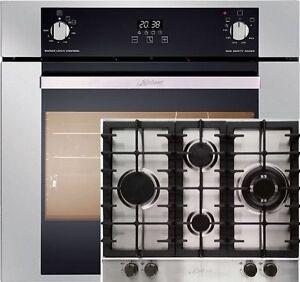 set einbau gasbackofen gasherd kaiser eg 6370 autark 67l. Black Bedroom Furniture Sets. Home Design Ideas