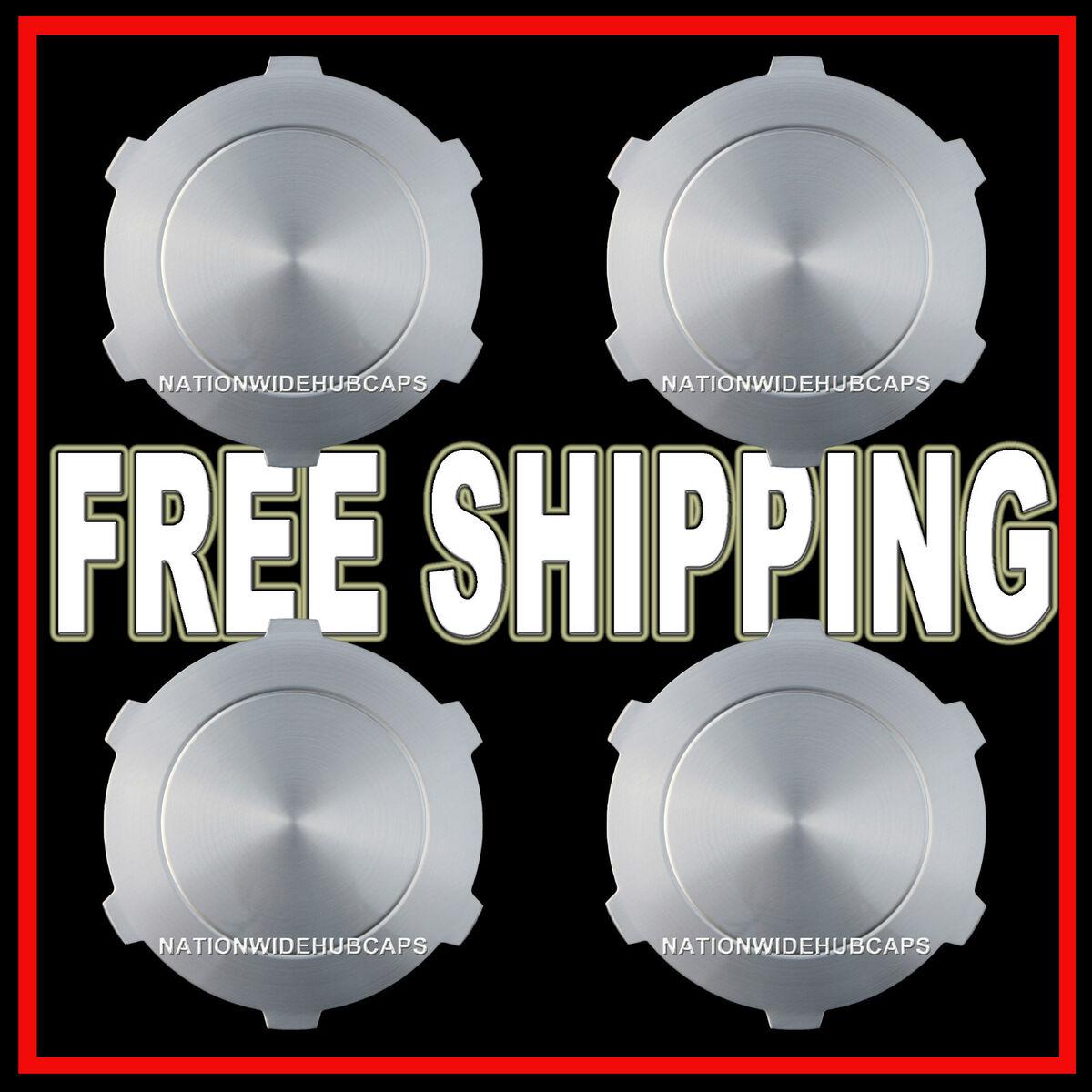 """Set of 4 GMC Sierra Yukon 17"""" Wheel Center Hub Caps Rim Nut Covers 6 Lug Wheels"""