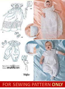 Christening Gown Patterns - The Old Fashioned Baby company.