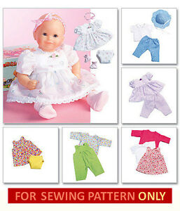 Sewing Pattern Make Baby Doll Clothes for Tiny Tears Bitty ...