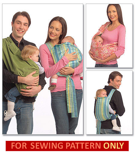 Sewing Pattern Make Baby Wrap Carrier Pattern Tie Sling Infant Carrier