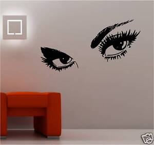 Sexy Womans Eyes Lady Sticker Wall Art Vinyl Bedroom Ebay