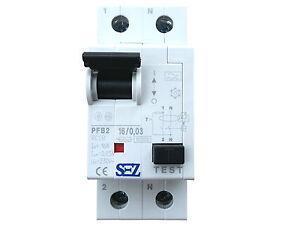 SEZ-Fi-Schalter-16A-30mA-2p-10kA-Fehlerstromschutzschalter-FI-Schutzschalter