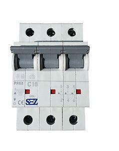 SEZ-circuit-breaker-16A-3p-C-VDE-10kA-breaker-fuse