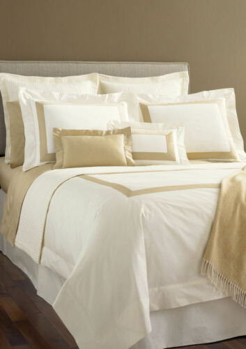 SFERRA ORLO 9215 KING Pillowcases White / Chocolate in Home & Garden, Bedding, Sheets & Pillowcases | eBay