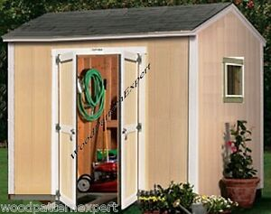 SHED-10-X-8-Paper-Plans-EASY-DIY-PATTERNS-Build-A-Utility-Storage ...