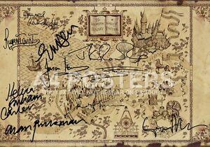 SIGNED PP x10 HARRY POTTER WIZARDING WORLD MAP A4 PHOTO POSTER TOM FELTON JKR