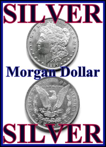 *** SILVER *** MORGAN SILVER DOLLAR * VF CONDITION OR BETTER *** SILVER *** in Coins & Paper Money, Coins: US, Dollars | eBay