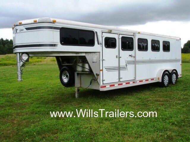 Silver Star 4 Horse Trailer Aluminum Slant Load $156 Monthly No Hidden Reserve