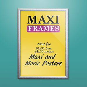 silver wooden maxi poster frame 61 x 91 5 cm 36 x 24 inch ebay. Black Bedroom Furniture Sets. Home Design Ideas