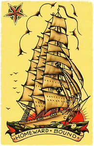 sailor jerry flash ship  ... Bound SHIP Sail...