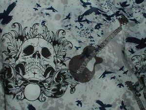 Skull Guitar Full Sheet Set Teen Gothic Bedding Boys Rock Roll ...