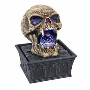skull sch del brunnen zimmerbrunnen mit kugel led fon19 ebay. Black Bedroom Furniture Sets. Home Design Ideas