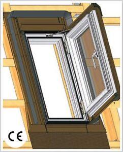skyfenster pvc ausstiegsfenster dachluke 55x78 kunststoff mit eindeckrahmen ebay. Black Bedroom Furniture Sets. Home Design Ideas