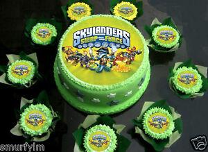 SKYLANDERS SWAP FORCE CAKE TOPPER PARTY EDIBLE ICING SUGAR