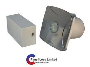 Slight100s Bathroom Extractor Shower Fan Light Chrome Wall Ceiling Mounted Led Ebay