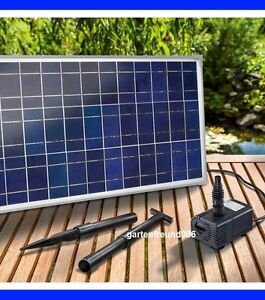 solar bachlauf pumpenset gartenteich teichpumpe bachlaufpumpe solarpumpe pumpe ebay. Black Bedroom Furniture Sets. Home Design Ideas