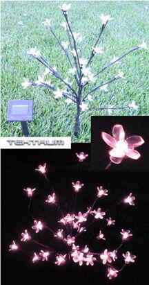 Solar Cherry Blossom Tree Light 21 36 Pink LED Flowers
