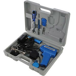 solder soldering iron gun kit set lots of extras ebay. Black Bedroom Furniture Sets. Home Design Ideas